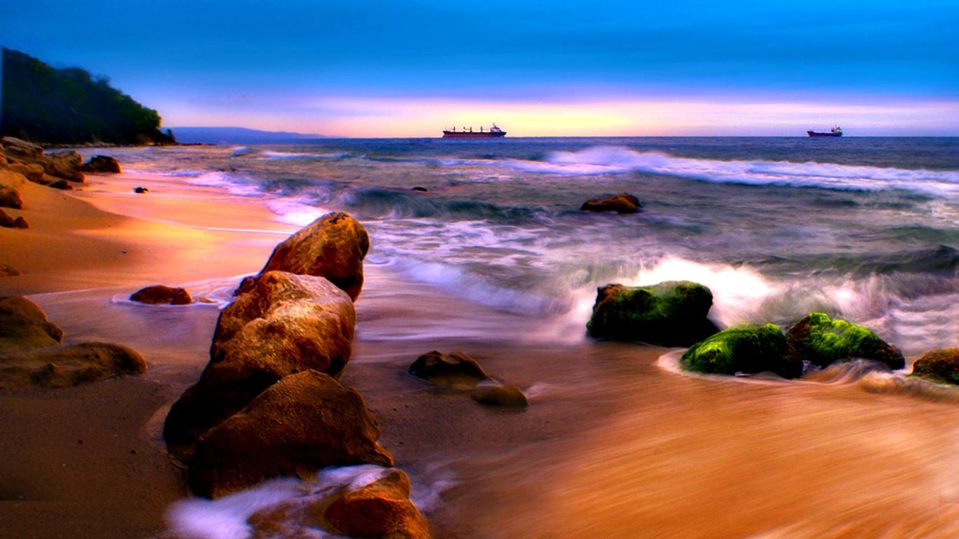 1366x768 Ocean View Wallpaper Download