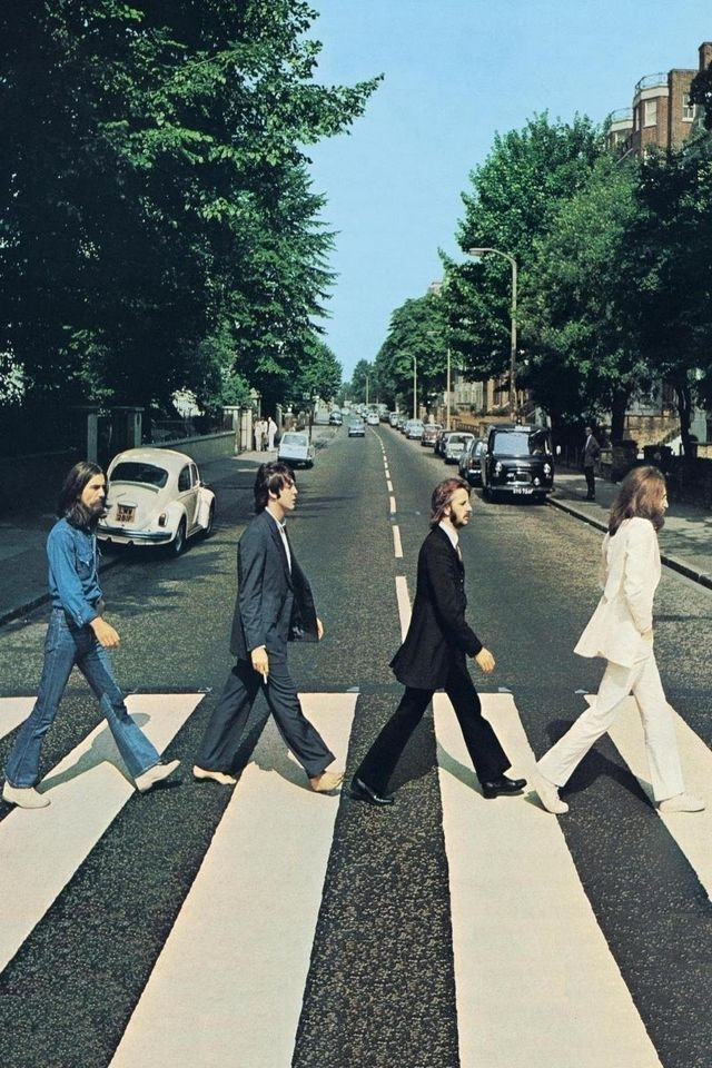 Beatles Abbey Road Cover Android Wallpaper Music and movies in 640x960