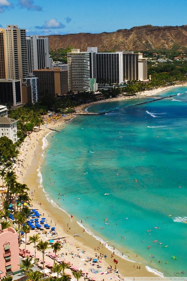Waikiki Beach 4K HD Desktop Wallpaper for 4K Ultra HD TV Dual 640x960