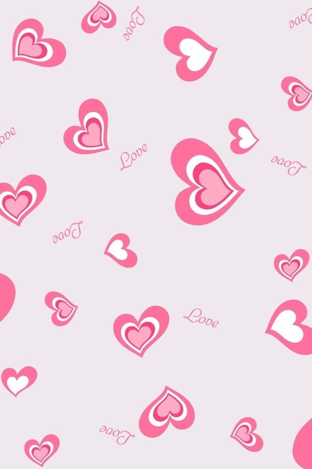 Pink Love Heart Backgrounds - WallpaperSafari