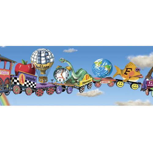 Alphabet Train Mural Style Wallpaper Border Wayfair 500x500