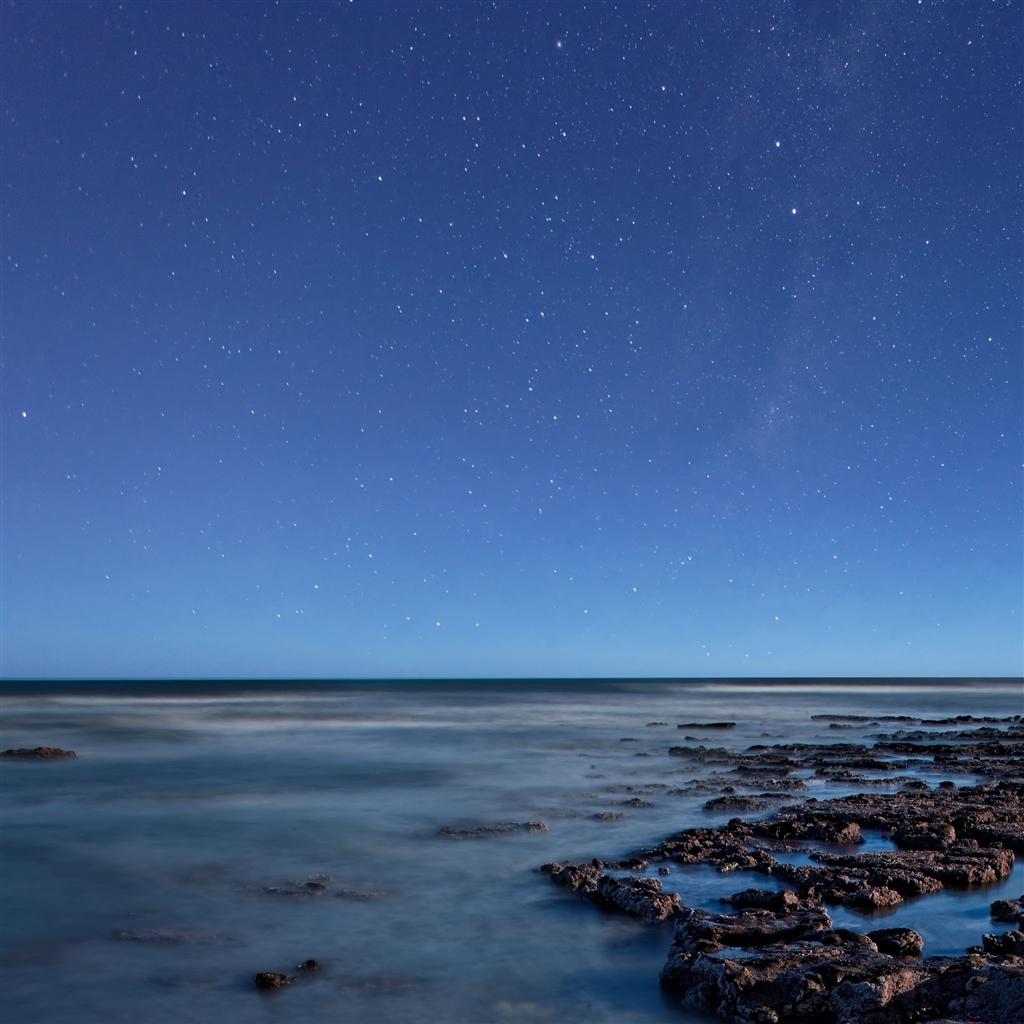Ocean At Night IPad Air Wallpaper Download IPhone Wallpapers 1024x1024