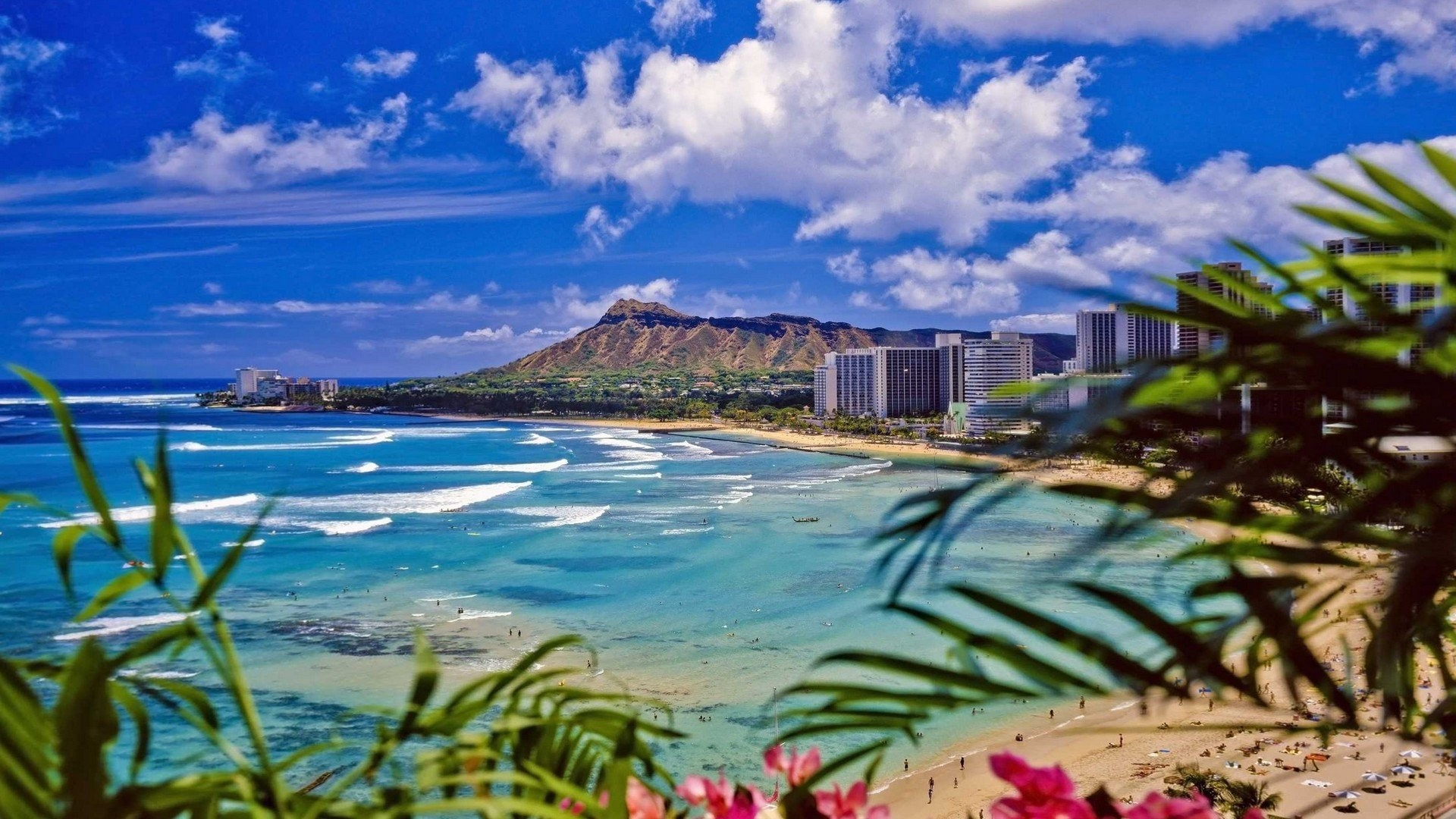 61 Waikiki Beach Wallpapers on WallpaperPlay 1920x1080