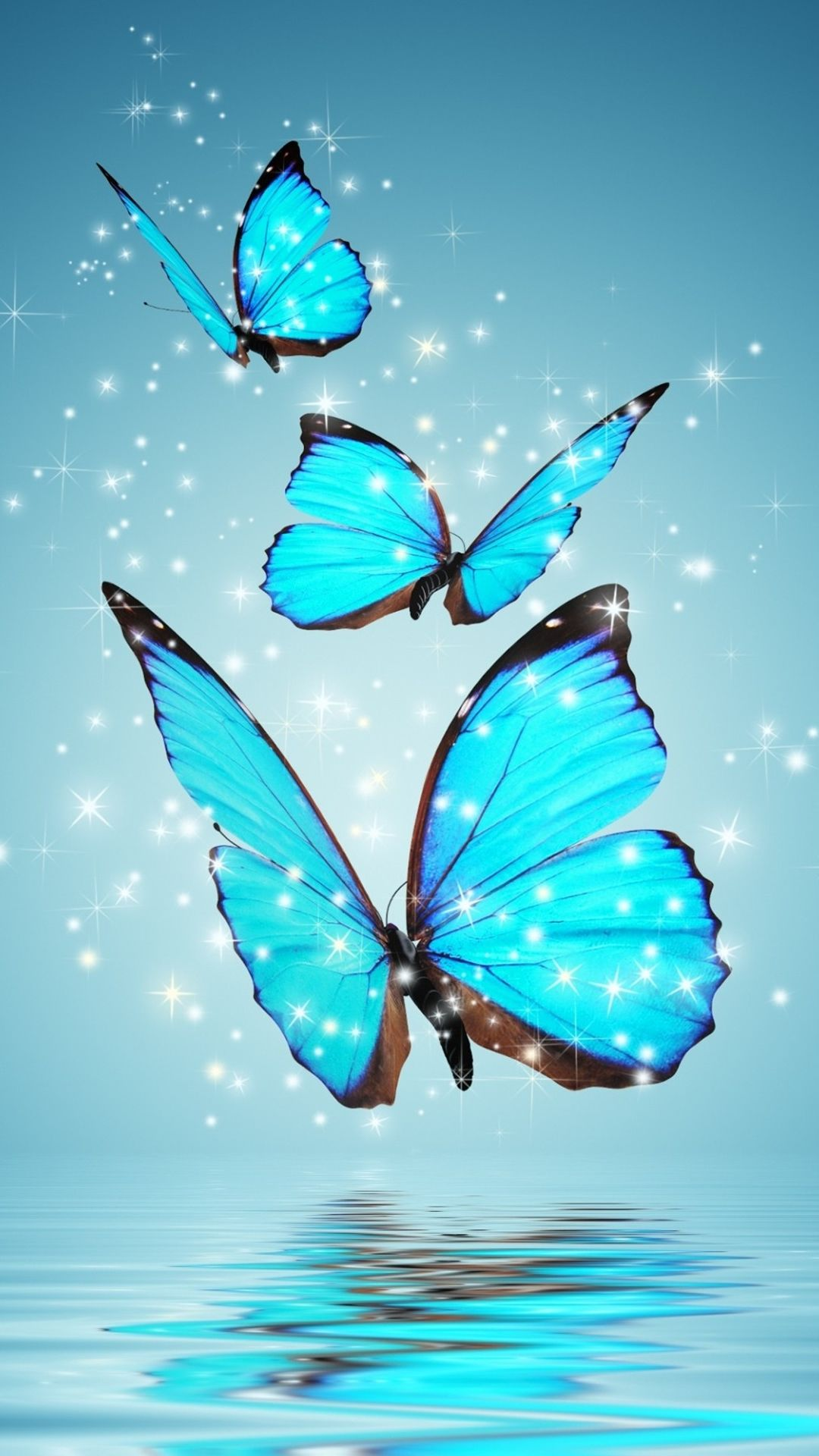 Blue Butterflies iPhone 6 Wallpaper iPhone 68 Wallpapers 1080x1920