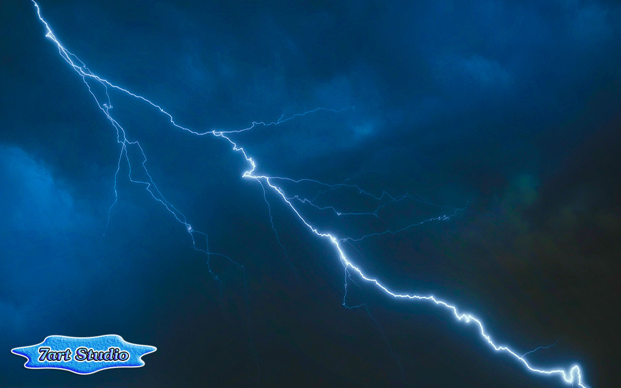 Can you hear the sound of thunder Lightning in storm clouds Storm 1280x800