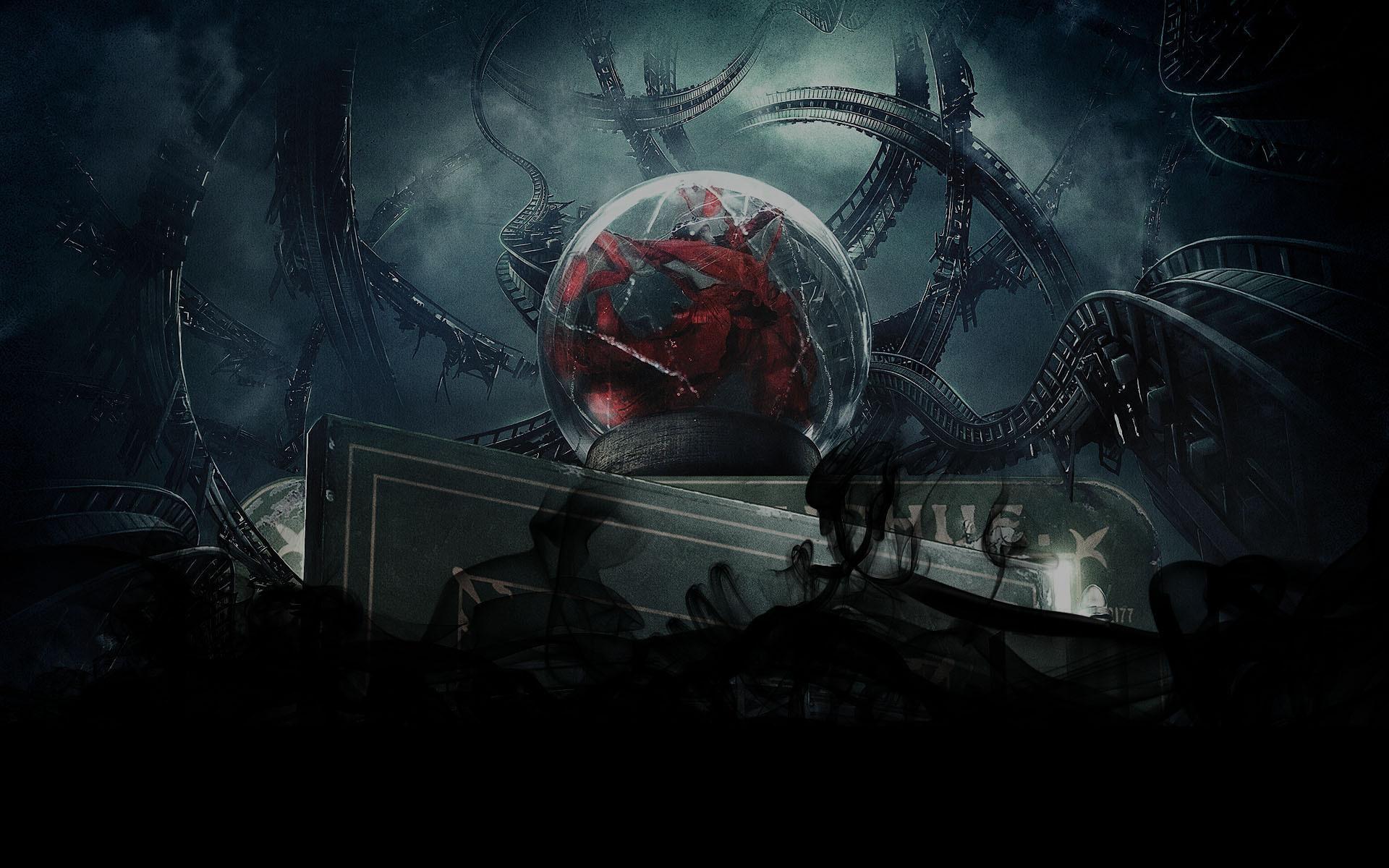 Dark gothic art horror sci fi wallpaper 1920x1200 28815 1920x1200