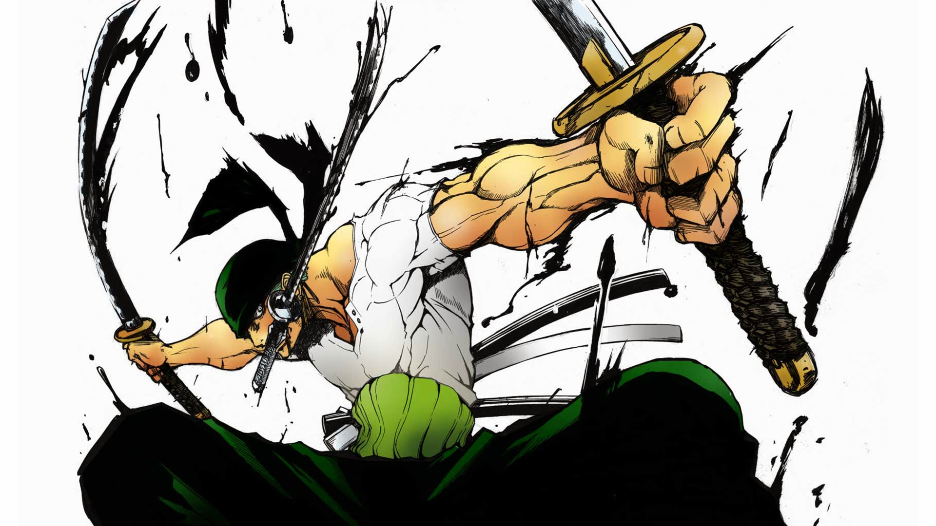 Roronoa Zoro 3 Sword Style 2u Wallpaper HD 1920x1080