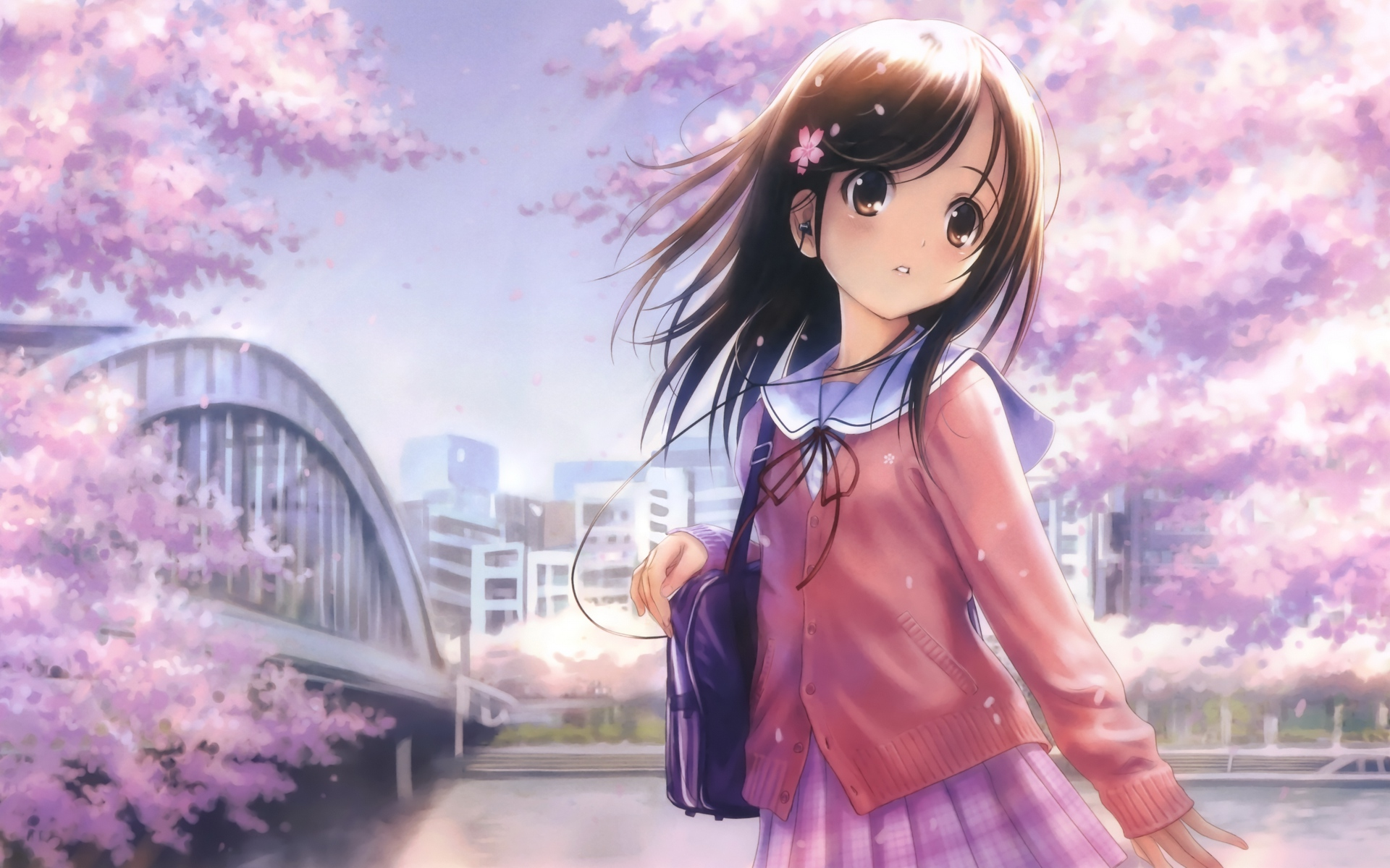 Cute Anime Girl Wallpaper Wallpaper WallpaperLepi 1920x1200
