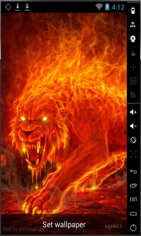 Download Monster Of Fire Live Wallpaper for your Android phone 480x800