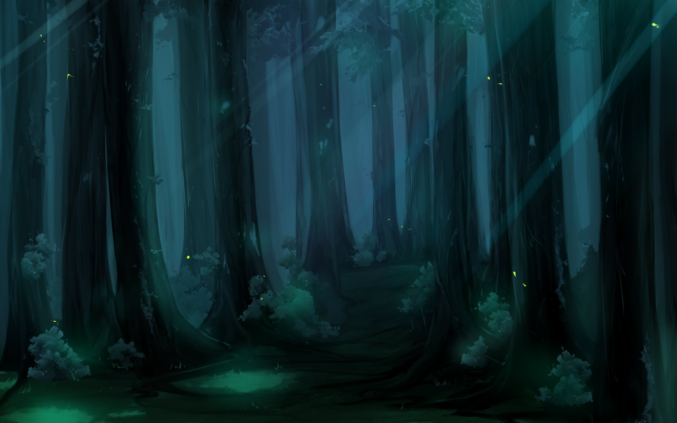 Anime Backgrounds Forest Anime backgrou 2560x1600
