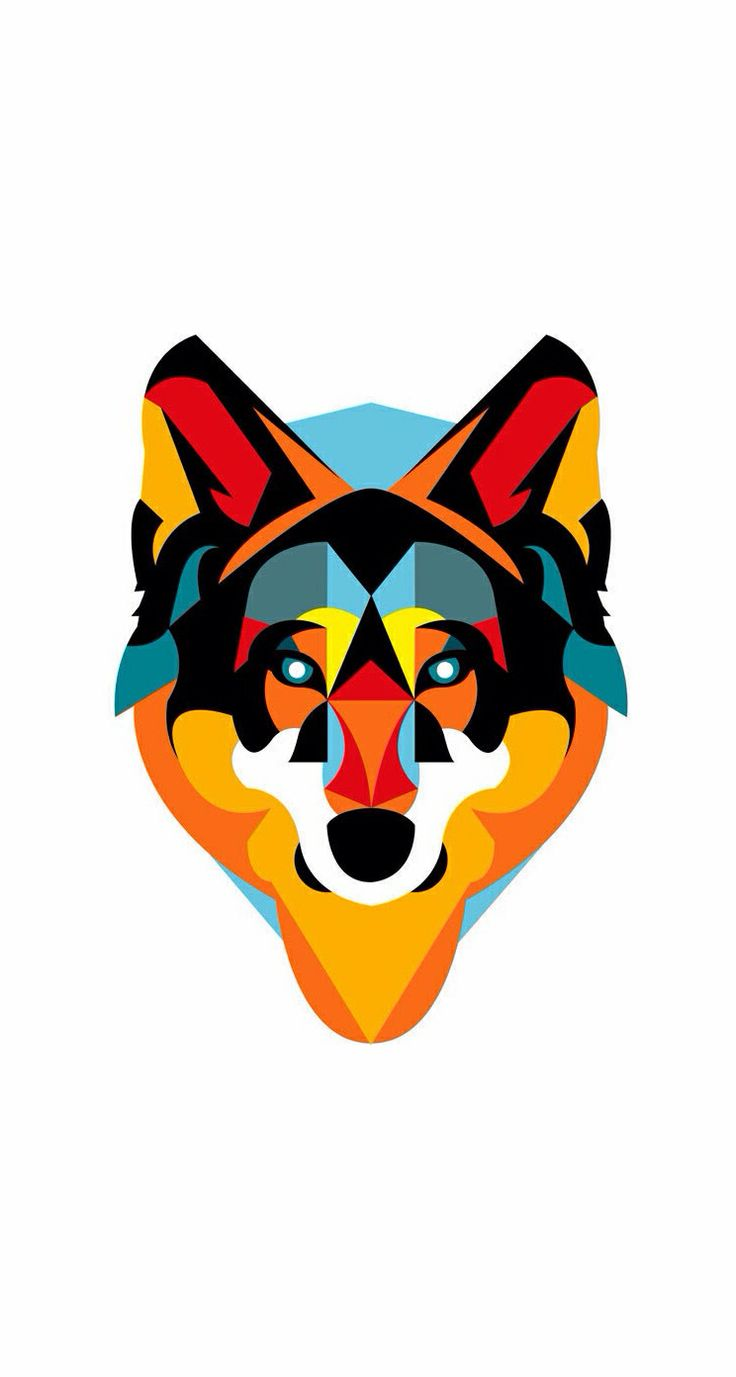 Geometric Wolf iPhone Wallpaper Iphone 5 wallpapers Pinterest 736x1377