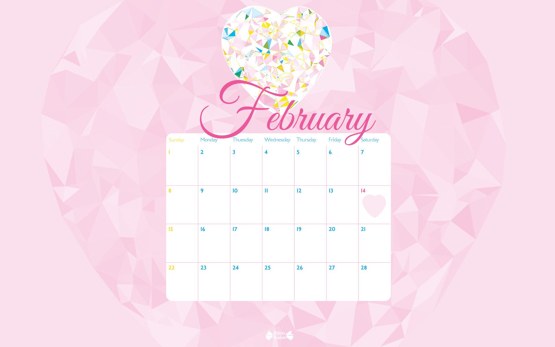 474YL7H February Calendar 2015 Wallpaper 1920x1200   Picseriocom 1920x1200