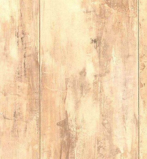 Faux Distressed Blond Wood Panel Wood Grain by WallpaperYourWorld 6 570x615