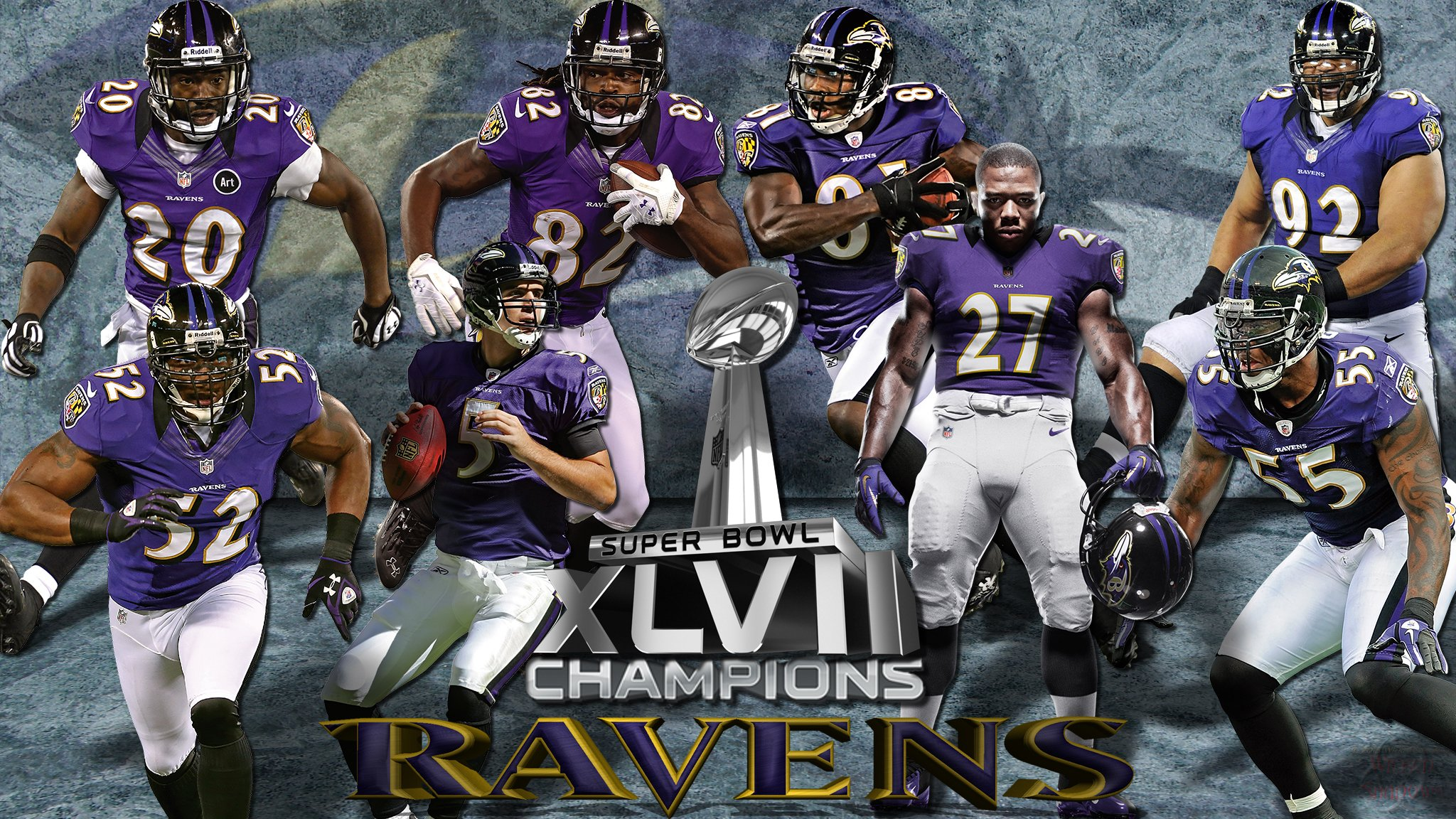 Wallpapers By Wicked Shadows Baltimore Ravens Super Bowl XLVII 2048x1152