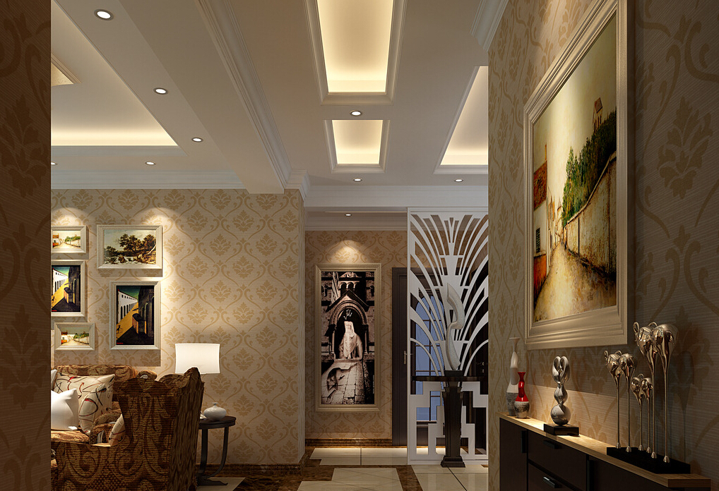 Free Download 3d Interior Wallpaper And Suspended Ceiling