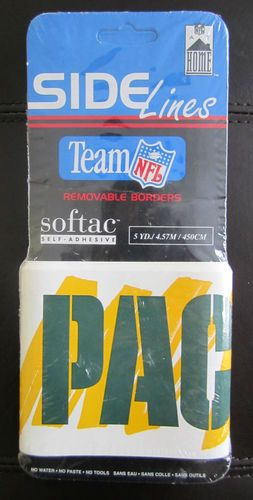 Self Adhesive GREEN BAY PACKERS Removable Wallpaper Border NFL 253x500