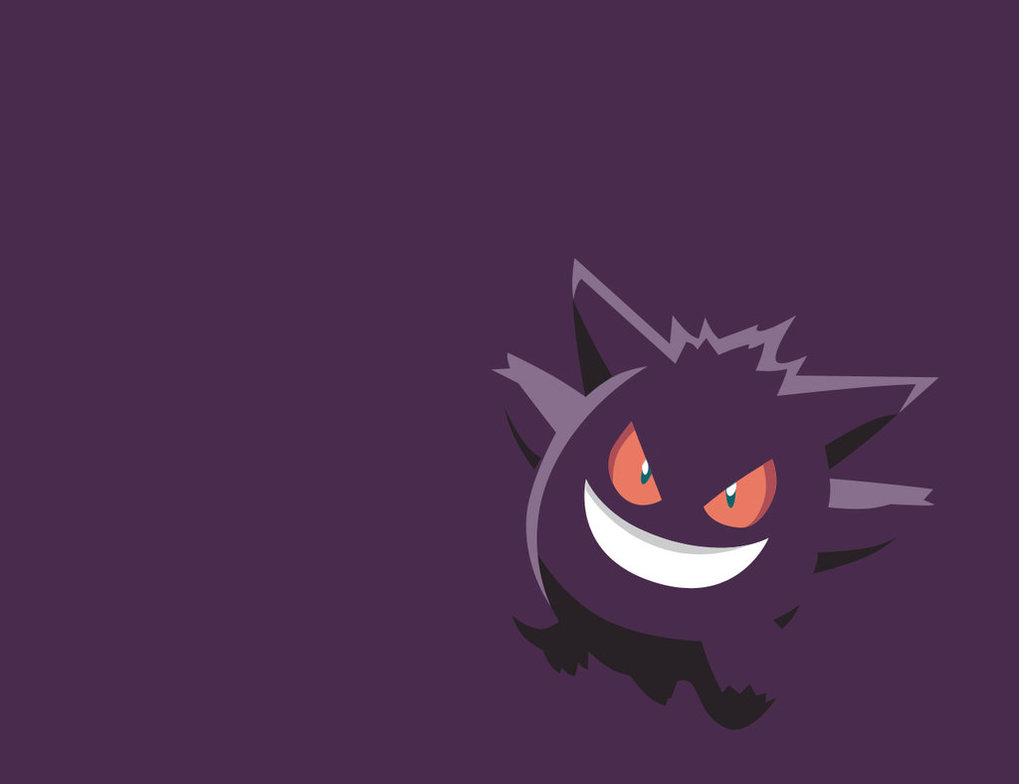 Gengar Minimalist Wallpaper by IJSJ 1019x784