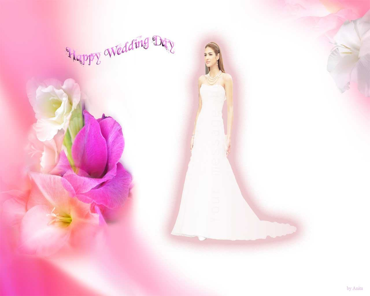 Wallpapers Backgrounds   Happy Wedding Day Greeting Cards Wallpaper 1280x1024