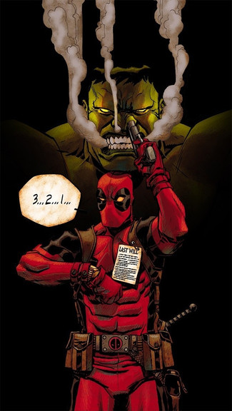 Hulk And Deadpool iPhone Wallpaper 325x576
