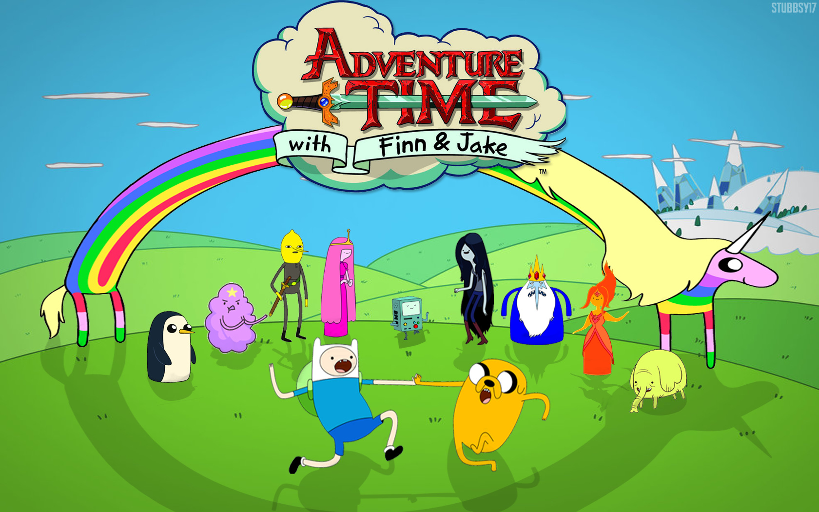 Time   Adventure Time With Finn and Jake Wallpaper 34444893 1680x1050