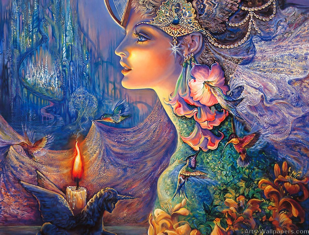 Josephine Wall Paintings Art Print Wallpapers Art Painting 1006x768