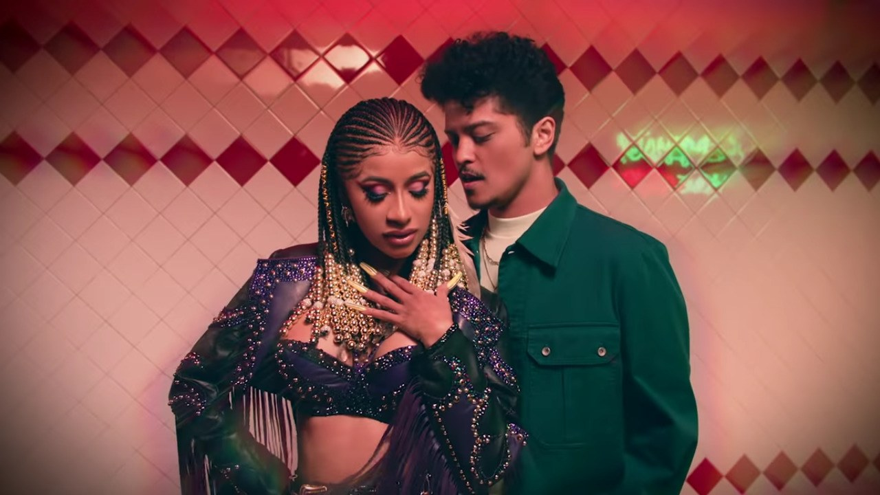 Cardi B and Bruno Mars Reunite for Late Night Tacos in Please Me 1280x720