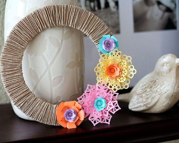 DIY Dimensional Paper Flowers paper scissors paste Pinterest 736x587