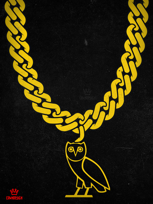 Gold Ovo Owl Wallpaper The ovo style from drake 500x667