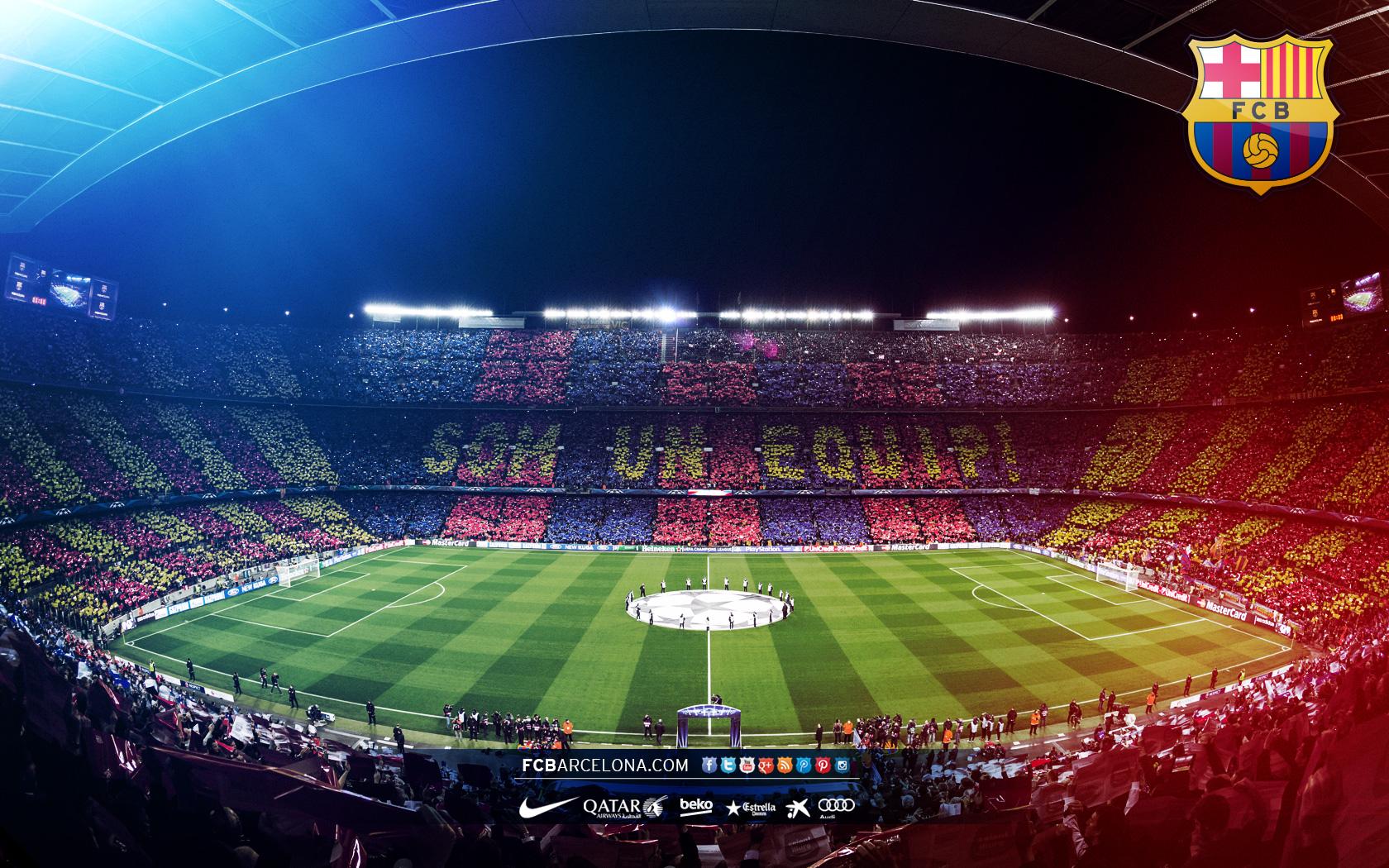 Camp Nou 01   Wallpaper FC Barcelona 1680x1050