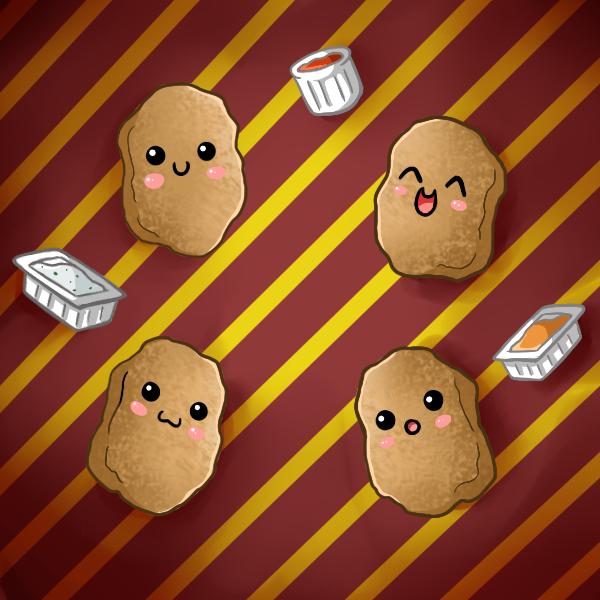 Cute Food Cartoon Wallpaper Cute food chicken nuggets by 600x600