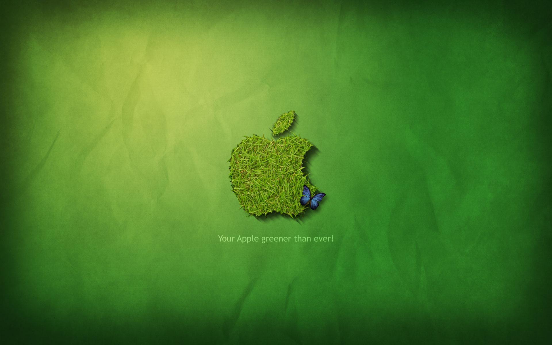 Grass Apple logo wallpaper 16073 1920x1200