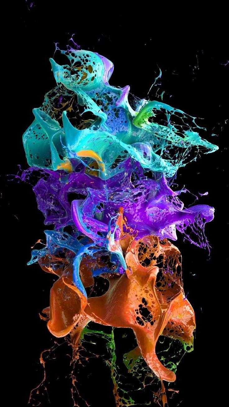 Wonderful color splash wallpaper Live wallpaper iphone Iphone 736x1308