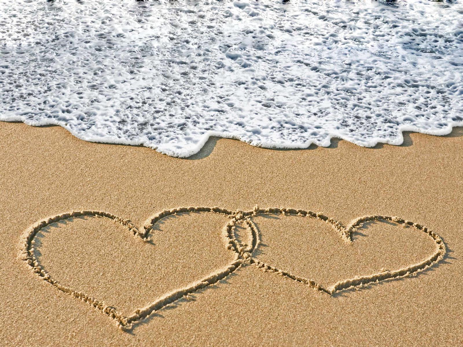 Valentines Beach Love Wallpapers Desktop Wallpaper 1600x1200