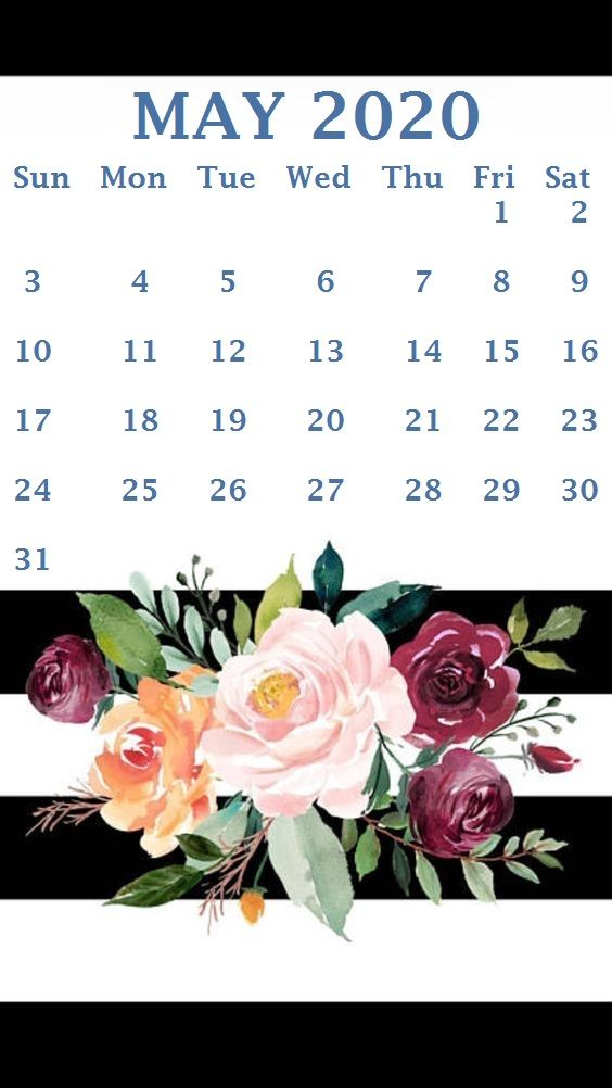Cute May 2020 Calendar Printable Floral Design Wallpaper May 564x1002