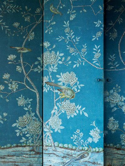 Chinoiserie hand painted wallpaper Wallpaper Love Pinterest 400x532