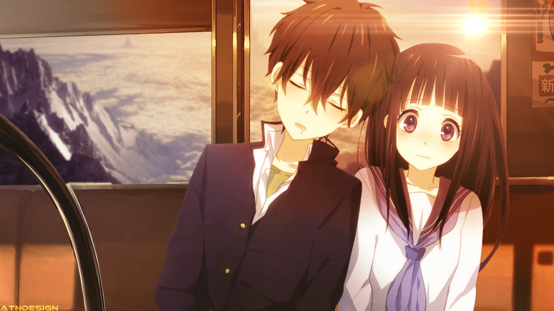 Cute Anime Couple Desktop Wallpapers 1920x1080