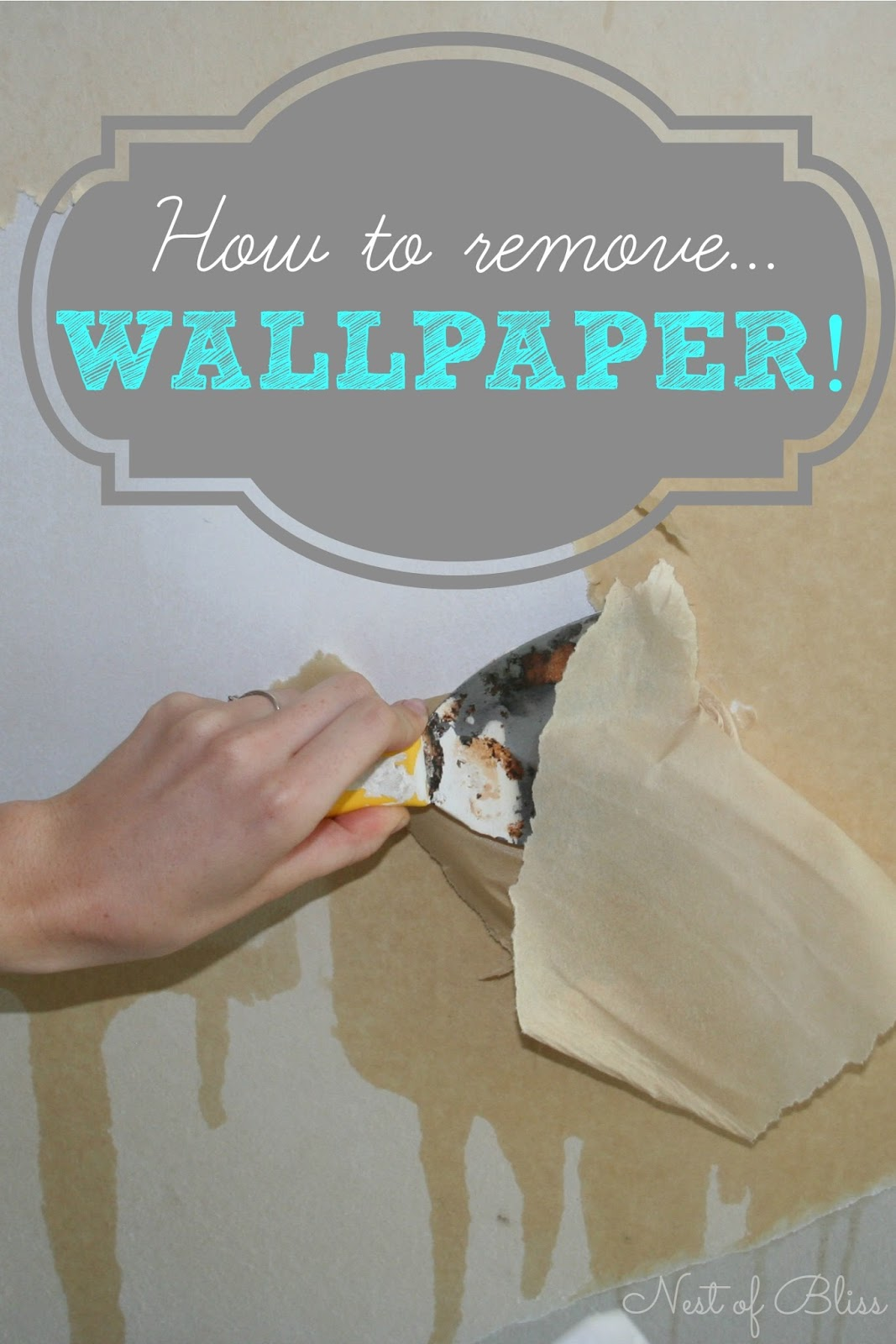 DIY   How To Remove Wallpaper   Nest of Bliss 1067x1600