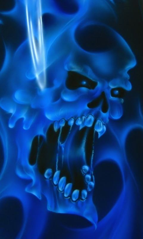 Download Wallpaper   Download Ghost Skull 98383 Abstract mobile 480x800