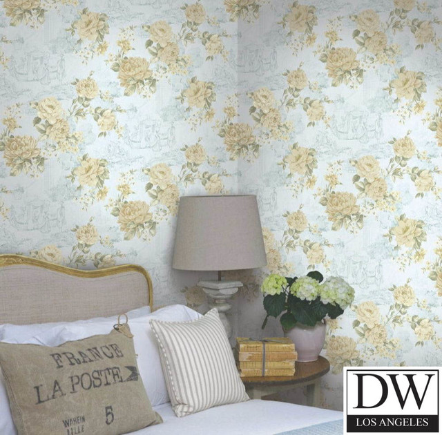 Countryside Kitchen Florals   Farmhouse   Wallpaper   by Designer 640x630