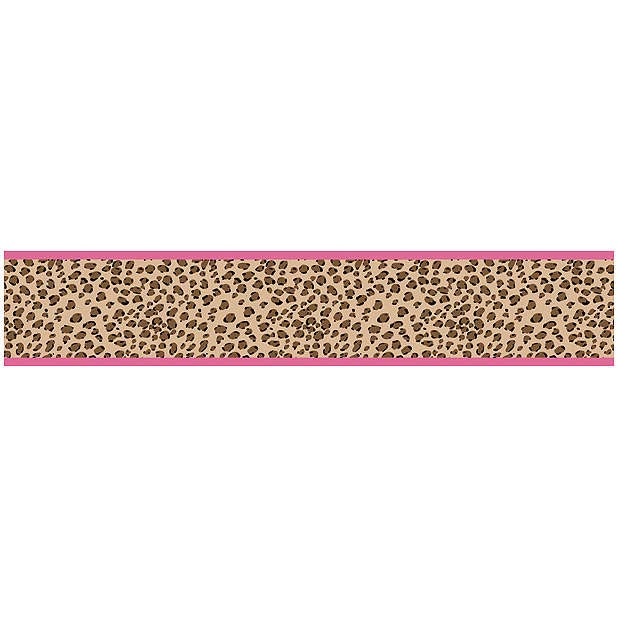 Cheetah Hot Pink and Leopard Print Wallpaper Border 618x618