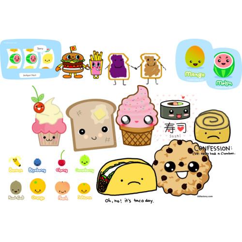 cute cartoon food wallpapers wallpapersafari