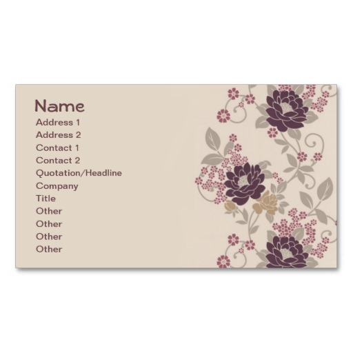 Burgundy Vintage Floral Wallpaper Business Cards 512x512