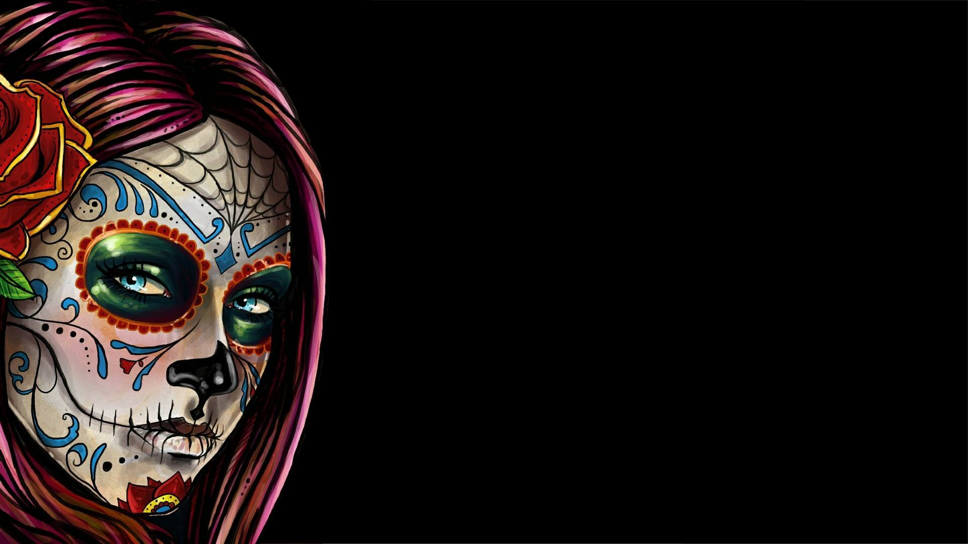 Sugar Skull Wallpaper Wallpaper back 1920x1080