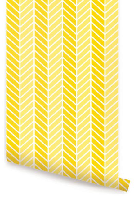 Tone Wallpaper Peel and Stick Yellow 24x48 transitional wallpaper 432x640