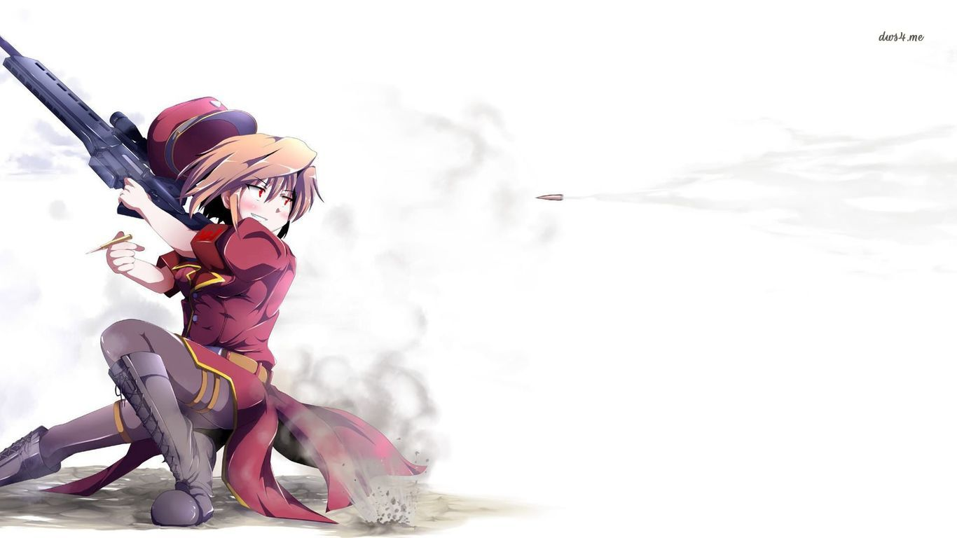 Sniper girl wallpaper   Anime wallpapers   30584 1366x768