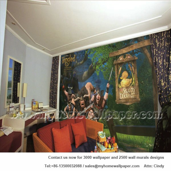 Tangled Story Wallpaper Murals In Guangzhou d1 00098   Buy Tangled 600x600