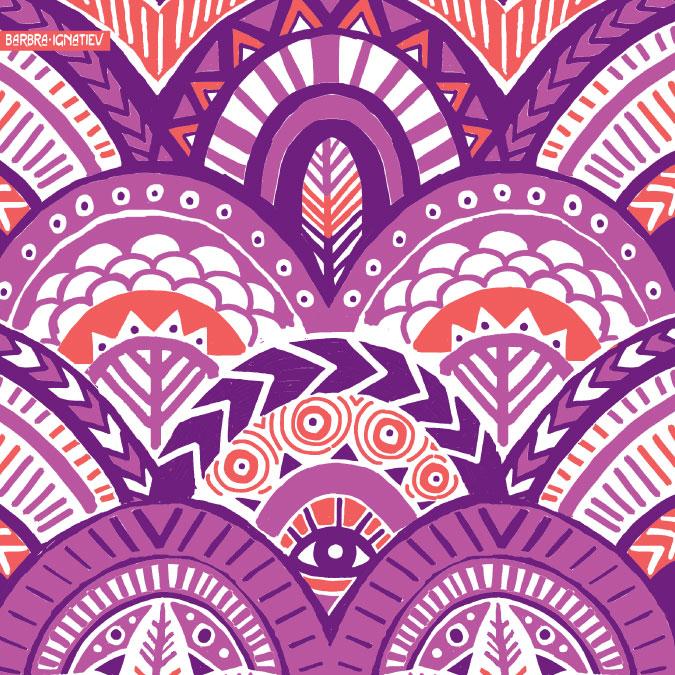 Wallpapers Bohemian Wallpaper Pattern 675x675