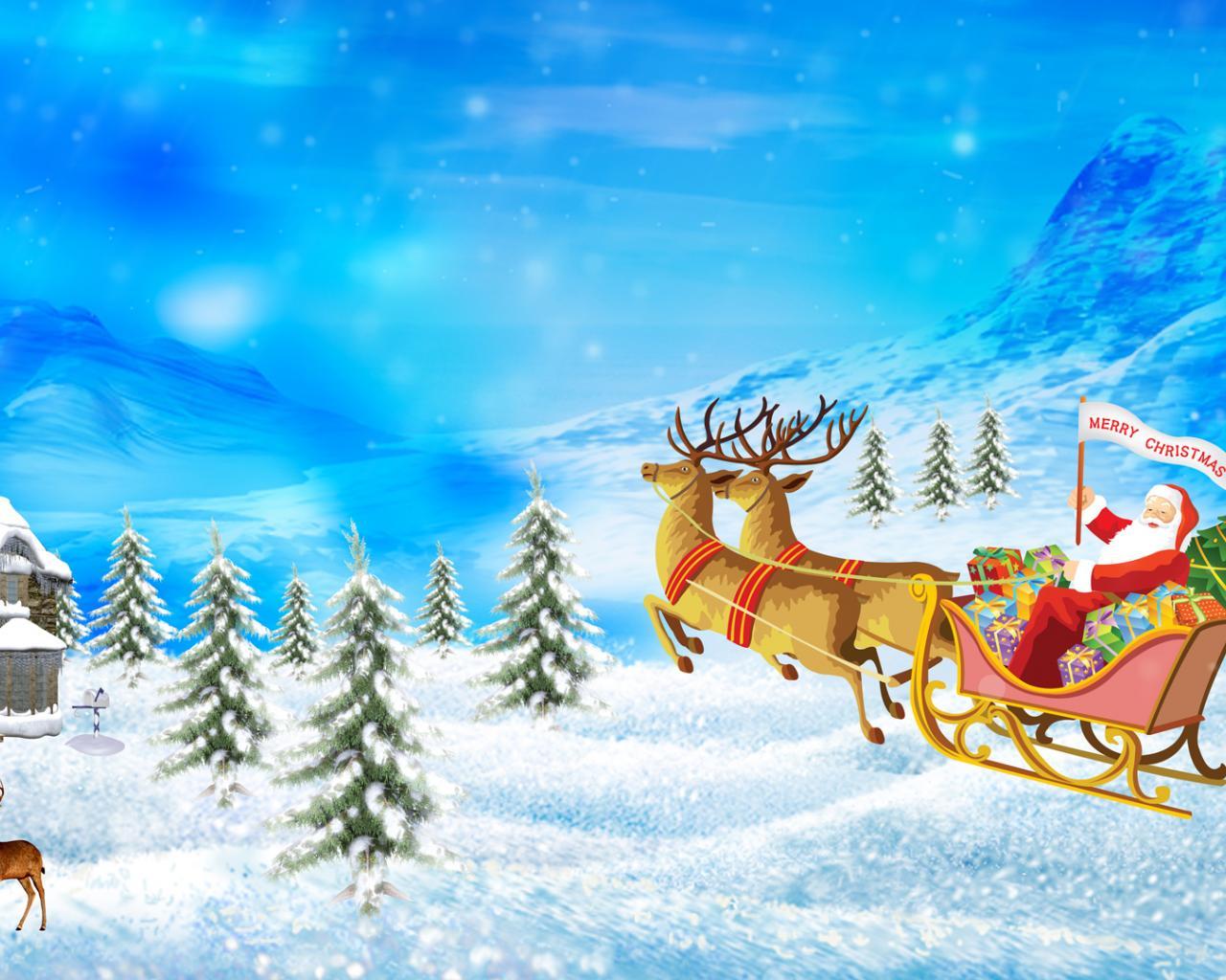 christmas new year holiday celebration 1280x1024