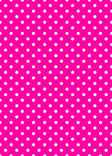 Polkadots Pink and White by Medusa81 Redbubble 393x550