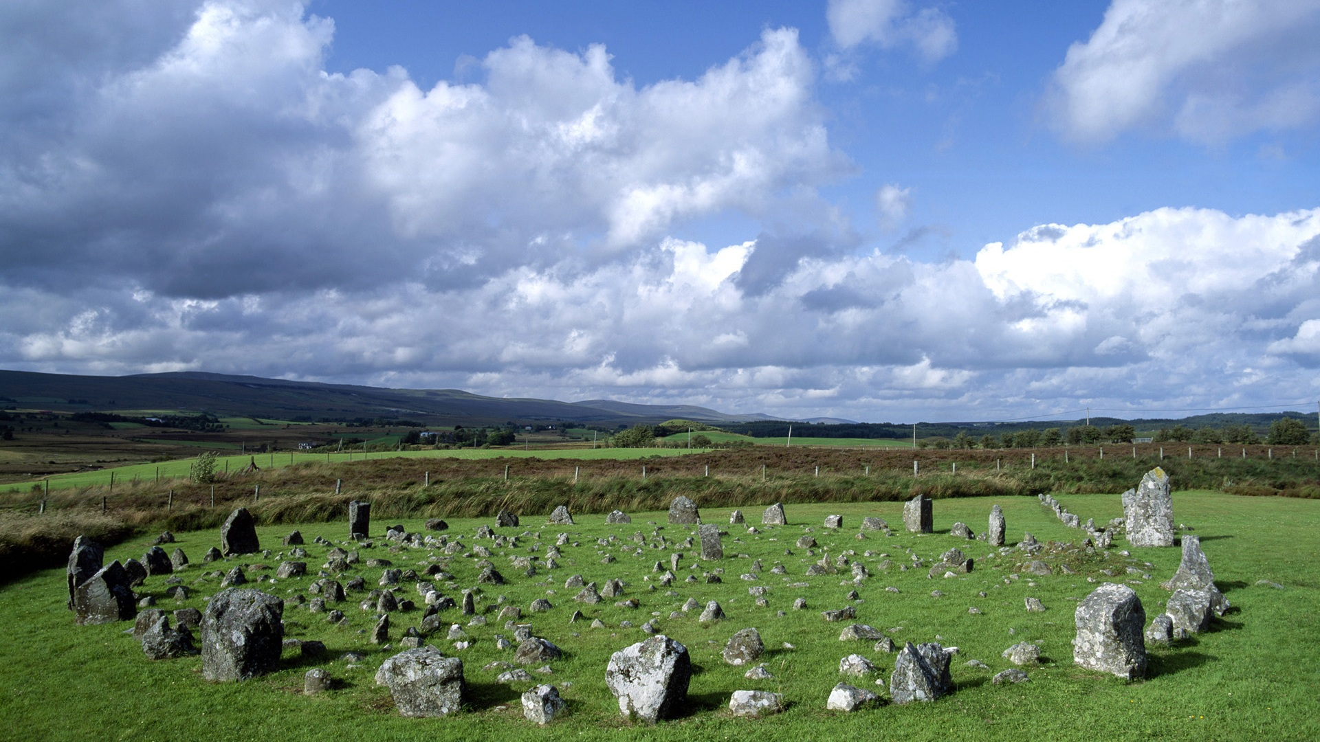 Wallpaper Beaghmore Stone Circles Northern Ireland 1920x1200 HD 1920x1080